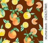 watercolor summer collection... | Shutterstock . vector #1426217885
