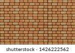brick wall  vintage orange...   Shutterstock .eps vector #1426222562