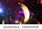 explosion of stars in space....   Shutterstock . vector #1426243328