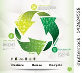 Illustration Of Recycle Symbol...