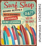 Surf Board Shop Vintage Metal...