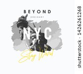nyc slogan with b w liberty... | Shutterstock .eps vector #1426261268