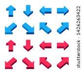 isometric arrow icon set flat... | Shutterstock .eps vector #1426263422