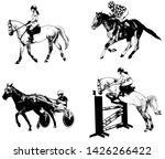 equestrian sports set  sketch... | Shutterstock .eps vector #1426266422