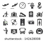 airport icons set | Shutterstock .eps vector #142628008