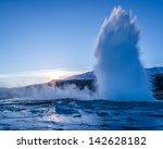 An Erupting Geyser At The...