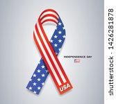 ribbons america flag...   Shutterstock .eps vector #1426281878