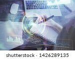 multi exposure of writing hands ...   Shutterstock . vector #1426289135