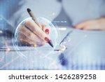multi exposure of hands making... | Shutterstock . vector #1426289258