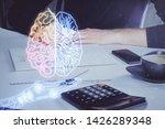haman brain multi exposure icon ...   Shutterstock . vector #1426289348
