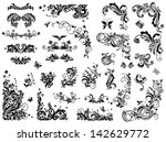 black and white vintage design... | Shutterstock .eps vector #142629772
