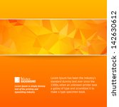 Orange Triangle Banner. Vector...