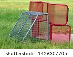 iron goal on a playground is... | Shutterstock . vector #1426307705