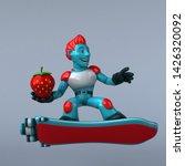 red robot   3d illustration   Shutterstock . vector #1426320092