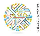 technology communication round...   Shutterstock .eps vector #1426326368