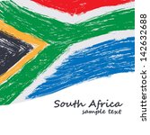 South African Flag. Vector...