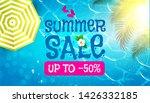 summer sale background. warm...   Shutterstock .eps vector #1426332185
