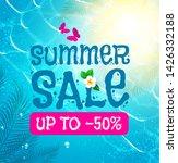 summer sale background. shining ...   Shutterstock .eps vector #1426332188