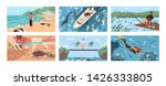 collection of scenes with... | Shutterstock .eps vector #1426333805