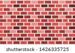 brick wall  orange red bricks...   Shutterstock .eps vector #1426335725