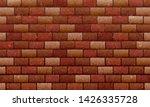 brick wall  brown red bricks...   Shutterstock .eps vector #1426335728