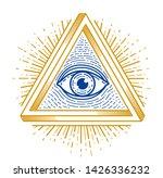 all seeing eye of god in sacred ... | Shutterstock .eps vector #1426336232