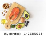 top view of keto or ketogenic... | Shutterstock . vector #1426350335