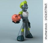 green robot   3d illustration   Shutterstock . vector #1426357865