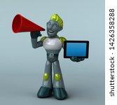 green robot   3d illustration   Shutterstock . vector #1426358288