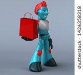 red robot   3d illustration   Shutterstock . vector #1426358318