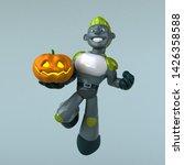 green robot   3d illustration   Shutterstock . vector #1426358588