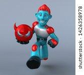 red robot   3d illustration   Shutterstock . vector #1426358978