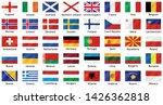national flags of european... | Shutterstock .eps vector #1426362818