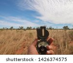 surveying and sighting with an... | Shutterstock . vector #1426374575