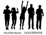 vector silhouettes of a group... | Shutterstock .eps vector #1426380458