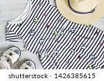summer things for the girl. | Shutterstock . vector #1426385615