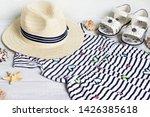 summer things for the girl. | Shutterstock . vector #1426385618
