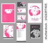 big set of hand drawn templates ... | Shutterstock .eps vector #1426397405