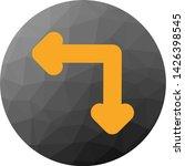 complex direction arrow icon...