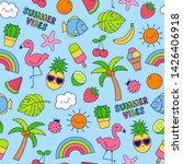 hand drawn summer elements... | Shutterstock .eps vector #1426406918