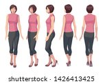 five vector images of a turning ... | Shutterstock .eps vector #1426413425