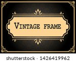 decorative frame with beautiful ... | Shutterstock .eps vector #1426419962