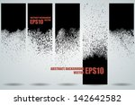 set of five black grunge... | Shutterstock .eps vector #142642582