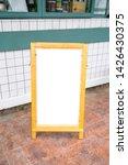 blank white menu stand on floor ...   Shutterstock . vector #1426430375
