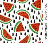 watermelon seamless pattern.... | Shutterstock .eps vector #1426443722
