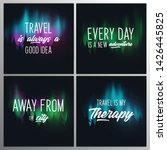 set of travel quotes with... | Shutterstock .eps vector #1426445825