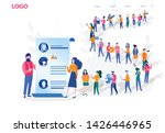 Stock vector we are hiring concept human resources recruitment for web page banner presentation social 1426446965