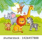 cute african animals in the...   Shutterstock .eps vector #1426457888
