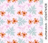 seamless flowers vector for...   Shutterstock .eps vector #1426476428