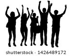 a group of young people... | Shutterstock .eps vector #1426489172